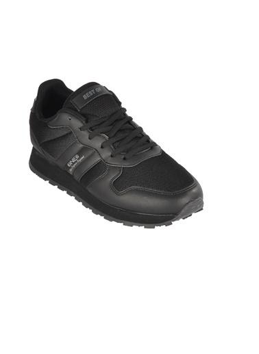 Bestof Bst-062 Siyah-Siyah Unisex Spor Ayakkabı Siyah
